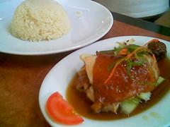 Roasted chicken rice (KL)