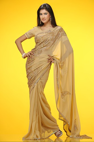 skin color saree by ifhra.