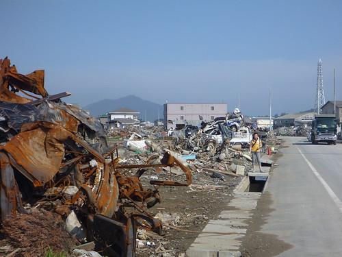 気仙沼の様子 Kessennuma, Deeply Damaged Area by the Tsunami of Japan Quake