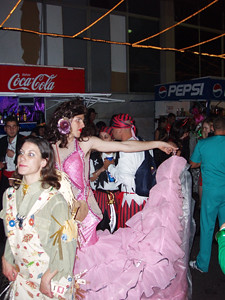 Carnaval goers on Calle Perdomo, an unruly lot?