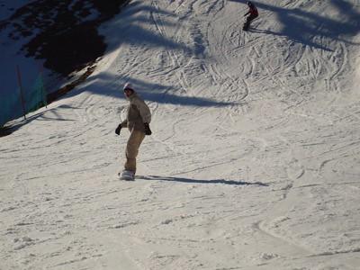 Una de mis bajadas con el snow
