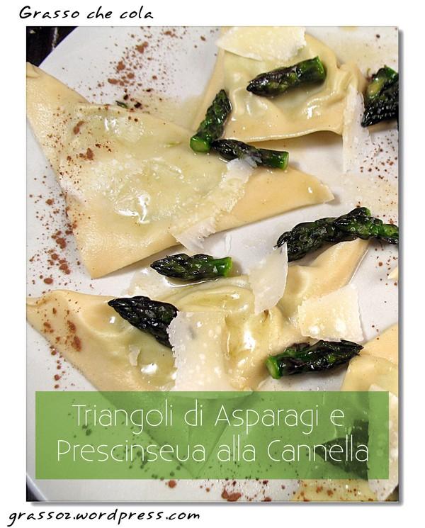 Triangoli di asparagi e prescinesua alla cannella