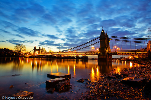 Hammersmith Bridge at Twilight