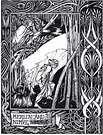 Aubrey Beardsley. Merlin and Nimue.  Le Morte d'Arthur.