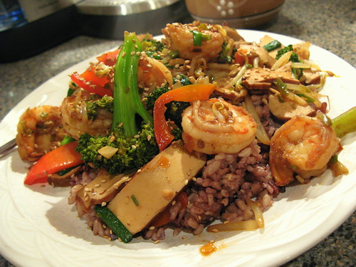 Shrimp Stir Fry with Hot Bean Sauce by you.
