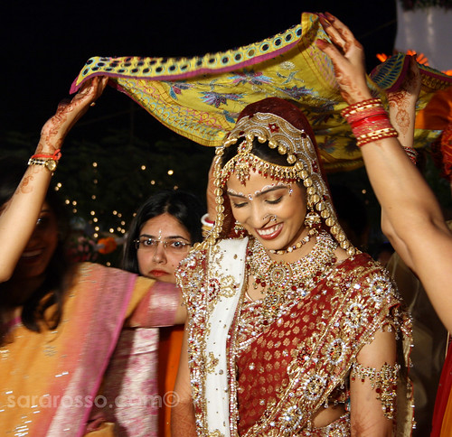 My beautiful friend, the Bride at a wedding in India