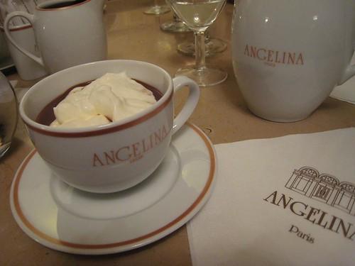 Hot Chocolate and Angelina