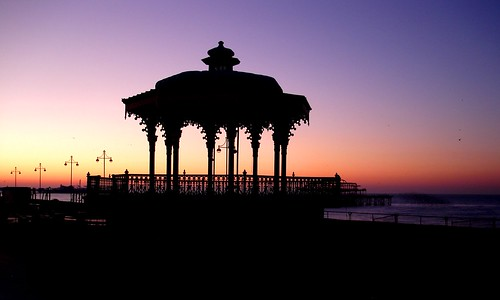 February sun rising behind Brighton bandstand by melita_dennett