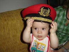 Con il cappello del nonno