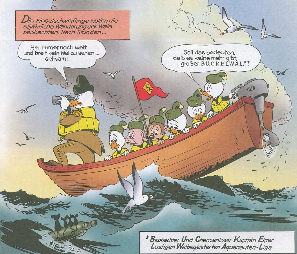 Carl Barks, Fähnlein Fieselschweif, Das Wehklagen der Walwächter