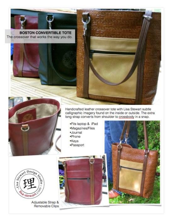 Boston Convertible Crossover Leather Tote