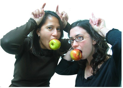 apples in porks mouths