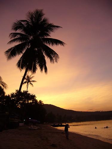 Sunset along Big Buddha Beach