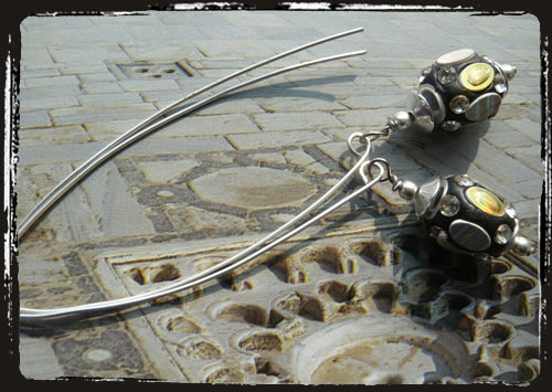 Orecchini argento - Silver earrings AMHCLKA