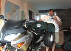 Coolabah swag bag on back of bike
