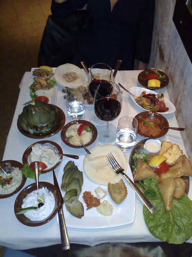 Meze Plate at Beirut Cafe