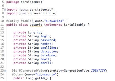 Primeras líneas de código del proyecto