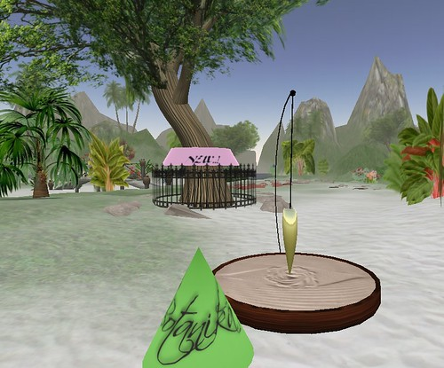 Sand pendulum and new tree