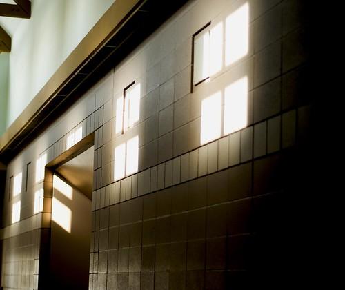 church windows shadows