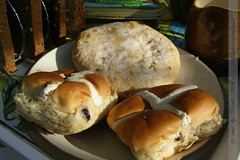 Eccles Cake and Hot Cross Buns