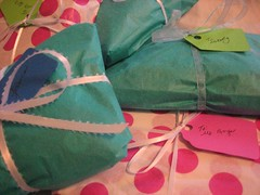 Allysa's teacher's gifts all wrapped up