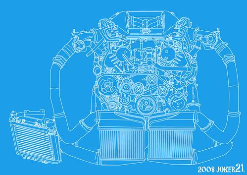 Computer Graphic - R35 GT-R Engine (VR38 by JOKER21.【Design & Fun】, on Flickr