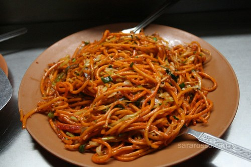 Garlic Chili Noodles - Indian Chinese Cuisine