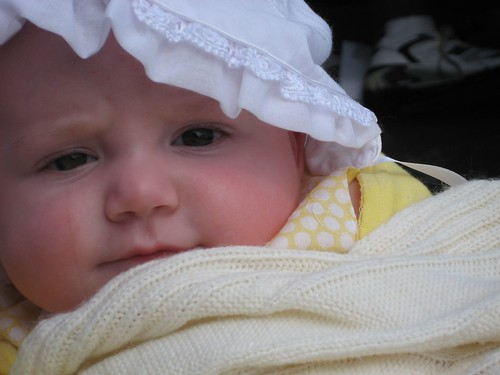 Prudence as Puritan baby