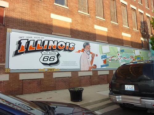 IL, Pontiac 48 - Route 66 mural left end view