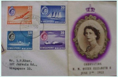 Stamp collection - Queen Elizabeth II, 1953