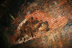 Sandsend Tunnel collapsing bricks