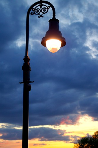 Lamp post on Pedestrian Bridge