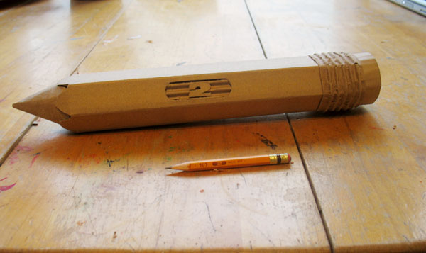 Cardboard Pencil