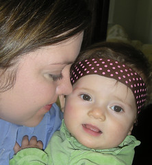 Mom and Baby with Headband