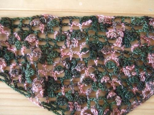 Crochet Lace shawl - progress