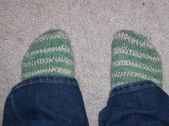Green stripe sox
