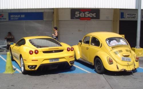 Ferrari 40 gbps fusca 1 mbps