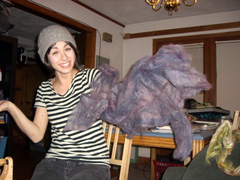 Cirilia wearing a batt