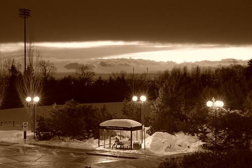 Overlook at dusk - Simon Fraser University