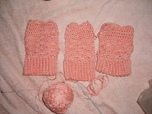 Three mitt pair