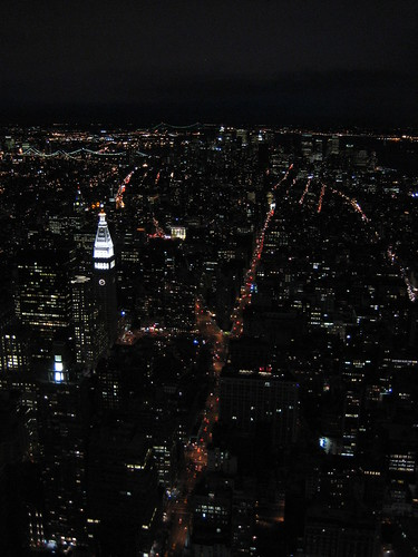 Manhattan at night from Empire State