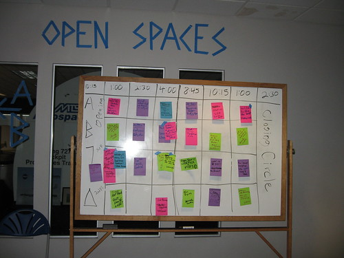 Open Spaces board from devLink 2008