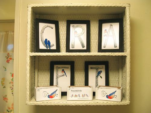 Craft room display.