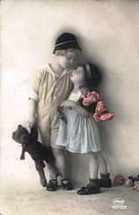 Vintage Postcard ~ Little Boy & Girl