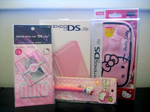 birthday pink lite hellokitty nintendo ds presents nds 소지품
