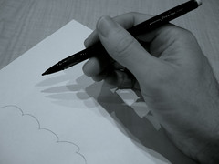 Picture of a writing hand