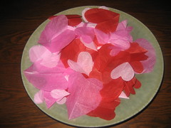 Pile o' tissue paper hearts