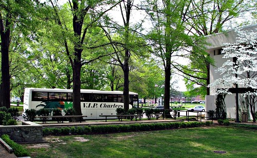 Tour bus from Florida visits the library on flickr