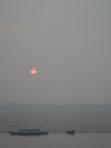 Ganges River1-61日出的恆河天空