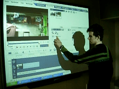 Video edition on Smartboard